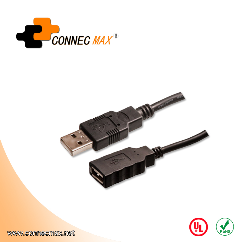 USB 2.0 A Male to A Female Active Extension Cable