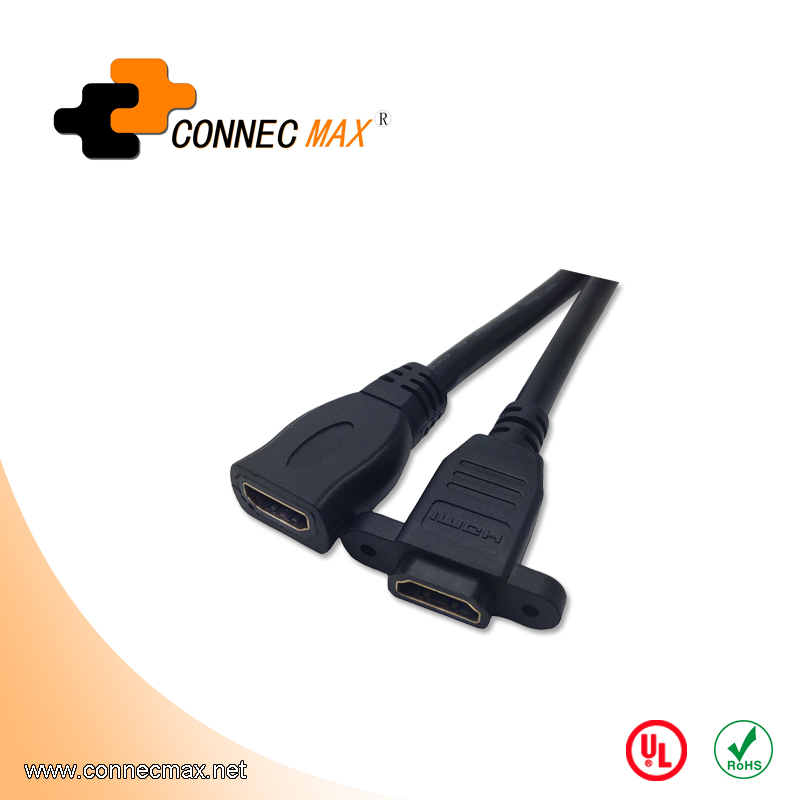 HDMI Female to Female Panel Mount Extension Cable