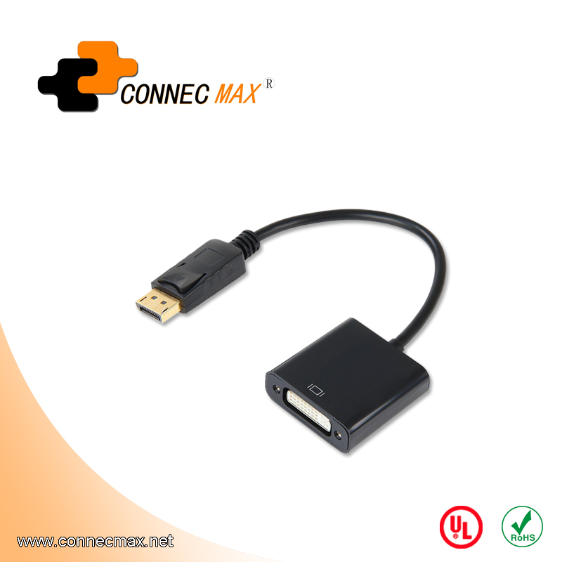 Displayport to DVI male to female adapter converter