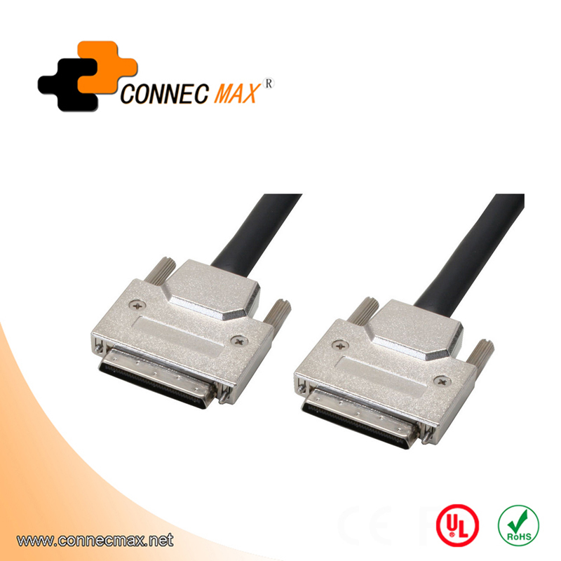 VHDCI 68Pin M/M cable with Screw, Assembly Type
