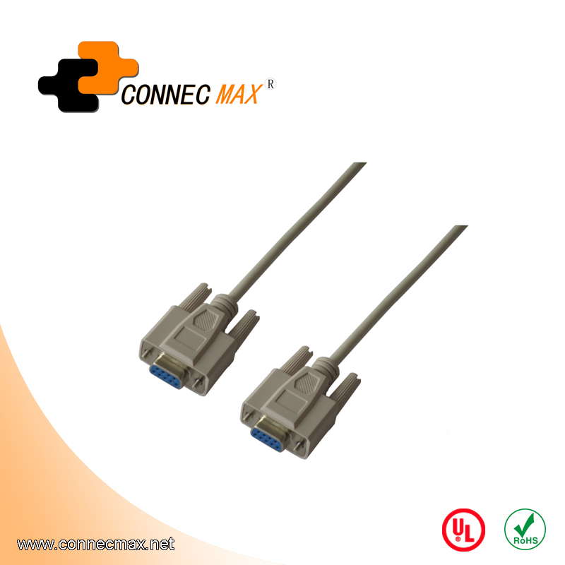 DB9 female to female cable with Screw