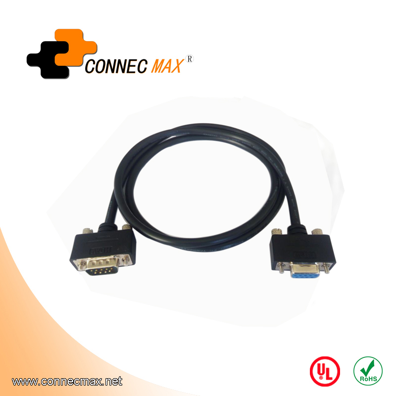 DB9 male to female extension cable