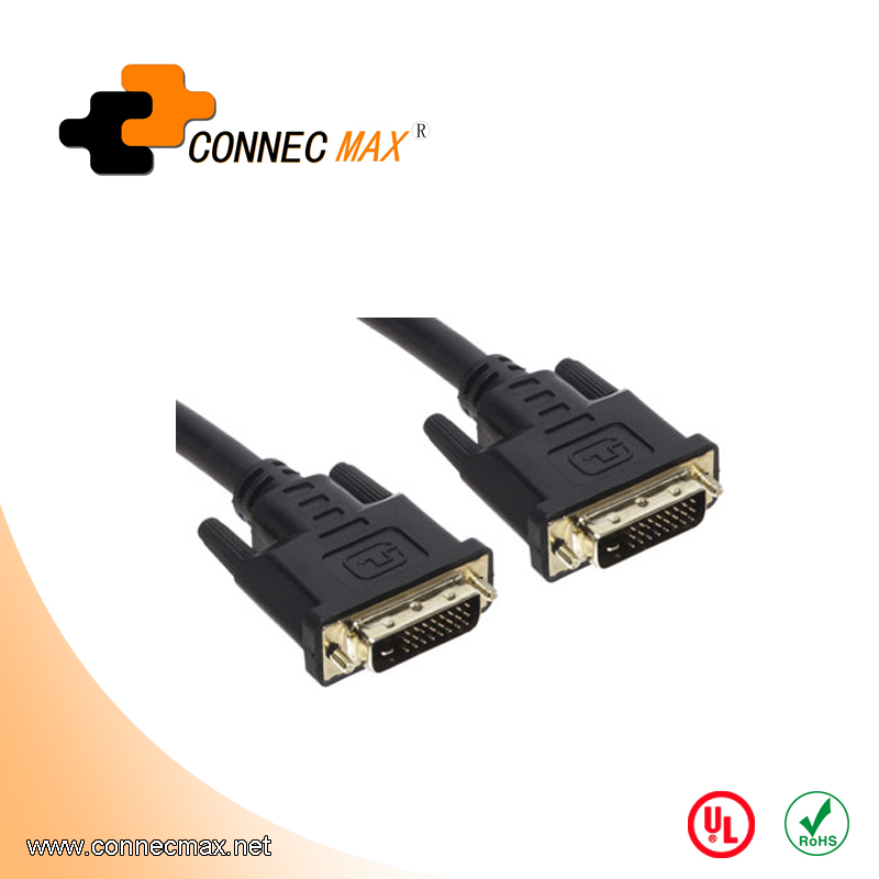 DVI-D 24+1 Male to DVI-D Male Dual-Link Cable