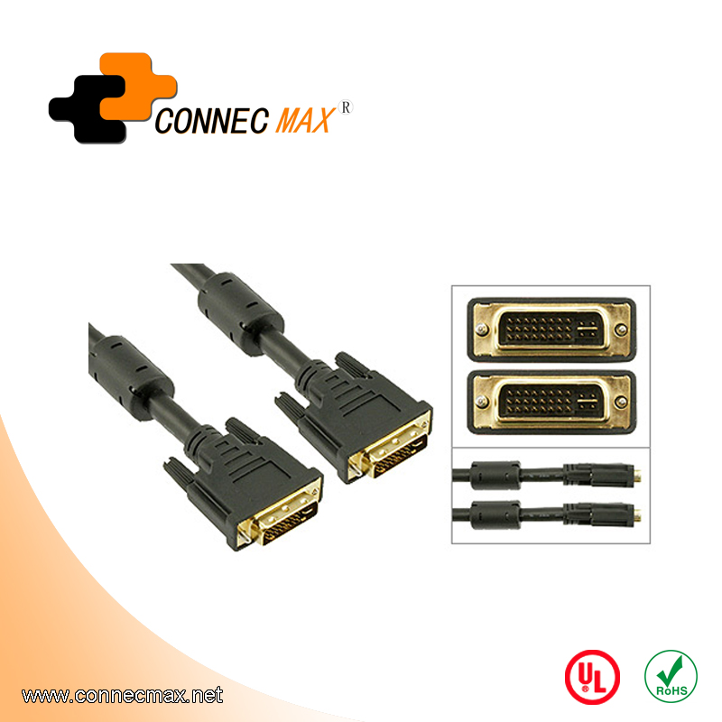 DVI-I 24+5 Male to DVI-I Male Dual-Link Cable