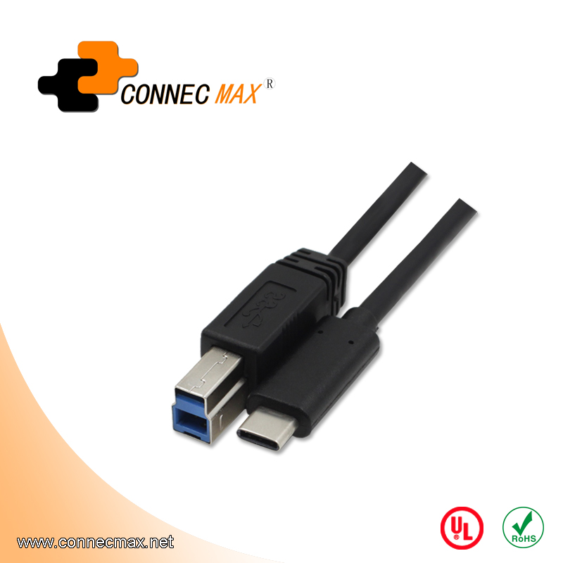 USB 3.1 type C to USB 3.0 BM male to male printer cable