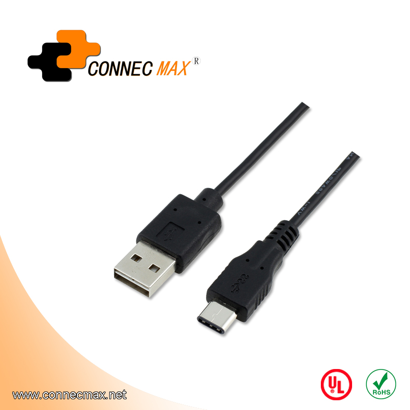 USB 3.1 type C to USB 2.0 AM male to male cable