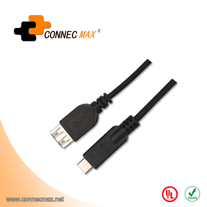 USB 3.1 type C to USB 2.0 AF male to female cable