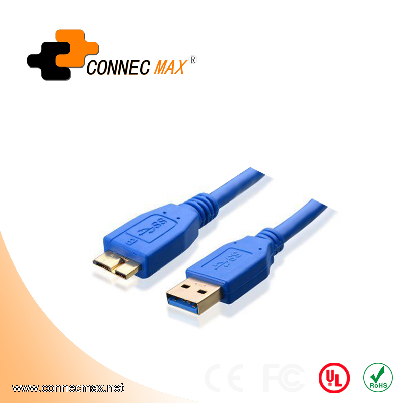 USB 3.0 A Male to Micro B Male Cable