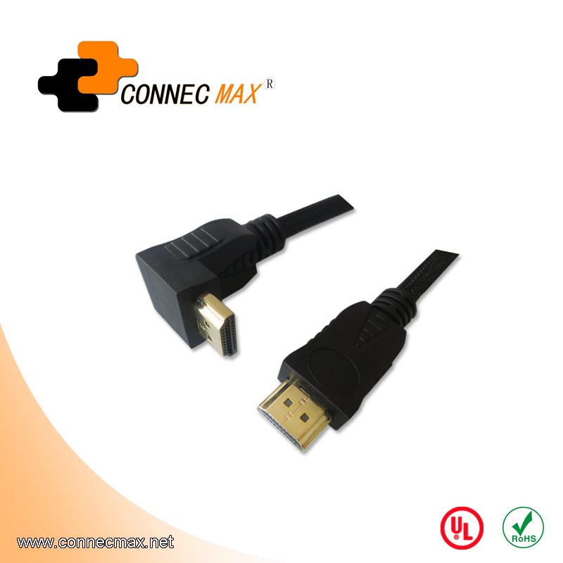 HDMI 90 Degree Male to Male Cable