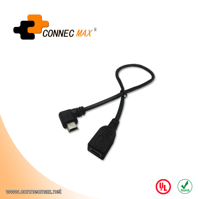 USB 2.0 Mini 5 Pin Male to Female Extension Cable