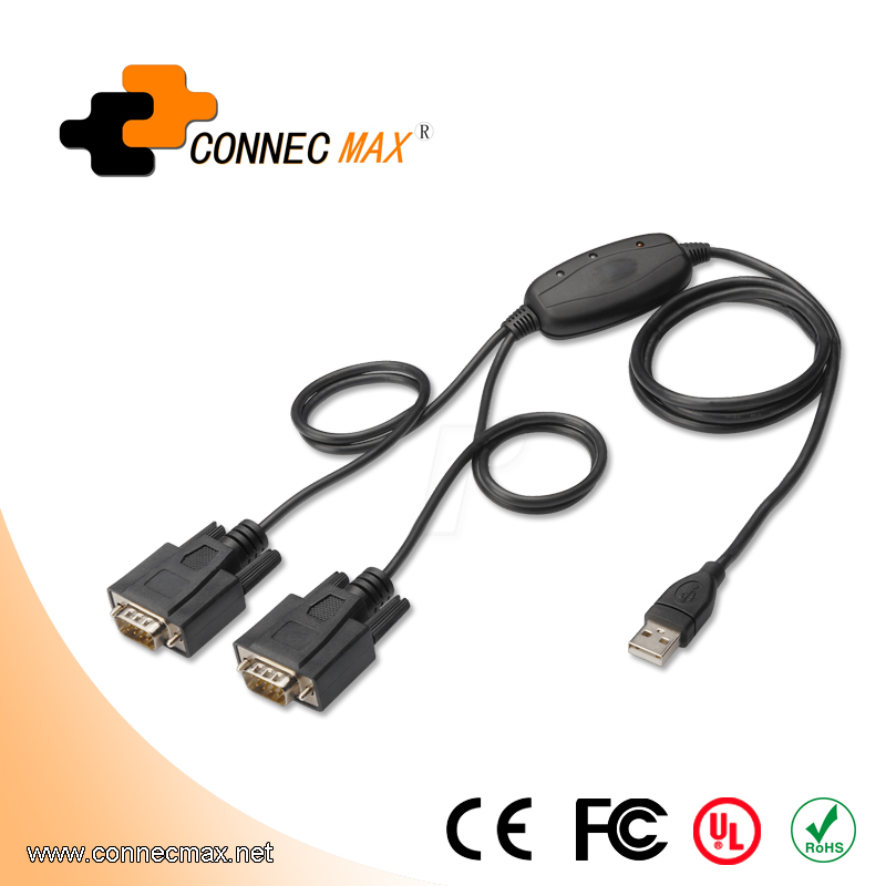 2 Port RS232 to USB Cable