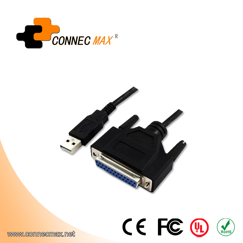 USB to IEEE1284 DB25 Printer Cable