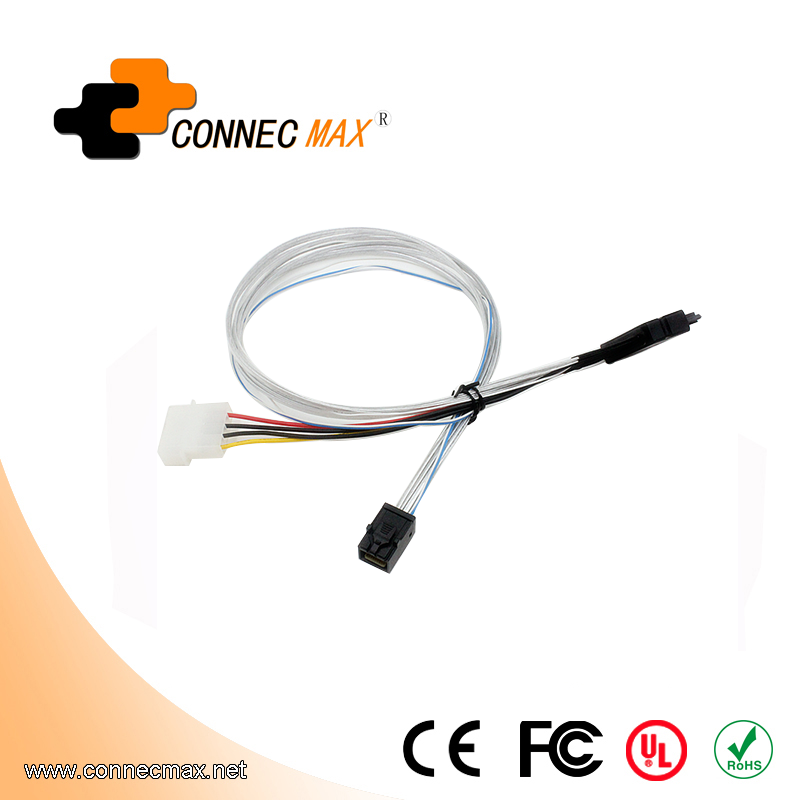 MINISAS (SFF8639) To MINISAS (SFF8643)Cable+Large 4PINPower Supply