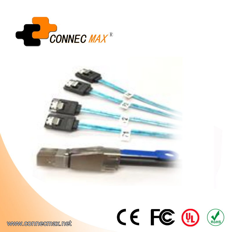 MINISAS (SFF8644) TO  4*SATA 7PIN Cable