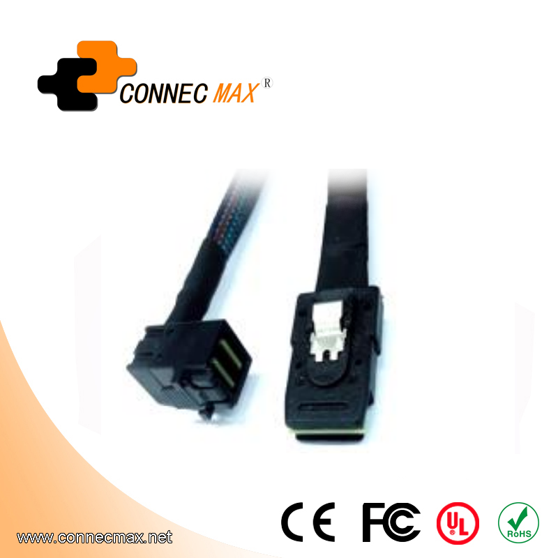 MINISAS (SFF8643)90° TO MINISAS 36PIN(SFF8087) Cable